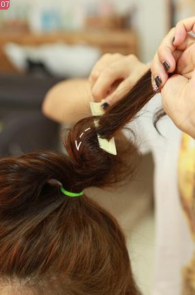저작권 탄포포헤어 http://www.tanpopohair.com 포도 묶음머리