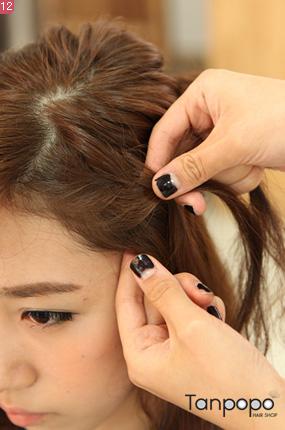 저작권 탄포포헤어 http://www.tanpopohair.com 양갈래 벼머리 땋은 방법 묶음머리 벼머리